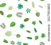 seamless pattern with green... | Shutterstock .eps vector #1017501802