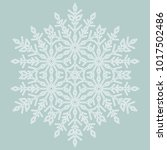 round vector white snowflake.... | Shutterstock .eps vector #1017502486
