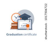 education concept  graduation... | Shutterstock .eps vector #1017506722
