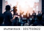 video camera operator working... | Shutterstock . vector #1017510622