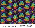seamless pattern with cute... | Shutterstock .eps vector #1017510688