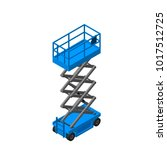 scissors lift platform.... | Shutterstock .eps vector #1017512725