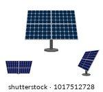 solar panel. isolated on white... | Shutterstock .eps vector #1017512728
