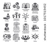 business management icons. pack ... | Shutterstock . vector #1017515452