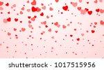 hearts confetti. heart... | Shutterstock . vector #1017515956