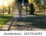 young fitness man runner... | Shutterstock . vector #1017516592