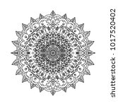 abstract mandala ornament.... | Shutterstock .eps vector #1017520402