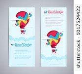 travel design flyer template... | Shutterstock .eps vector #1017524422