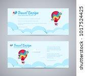 travel design flyer template... | Shutterstock .eps vector #1017524425