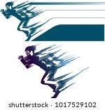 running  ranner. competition | Shutterstock .eps vector #1017529102