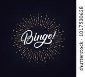 bingo hand written lettering...   Shutterstock .eps vector #1017530638