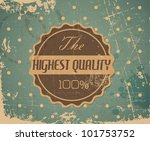 old vector round retro vintage... | Shutterstock .eps vector #101753752