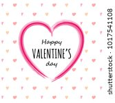 valentine's day   cute card... | Shutterstock .eps vector #1017541108