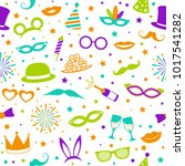 funny party background  ... | Shutterstock .eps vector #1017541282