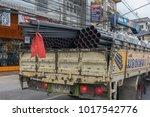 truck transporting building...   Shutterstock . vector #1017542776