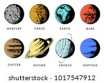 solar system color infographics ...   Shutterstock .eps vector #1017547912
