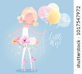 beautiful ballet girl ... | Shutterstock .eps vector #1017547972