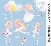 beautiful ballet girl ... | Shutterstock .eps vector #1017548005
