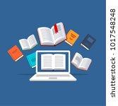 online tutoring  concept. e... | Shutterstock .eps vector #1017548248