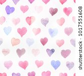 seamless watercolor pattern... | Shutterstock . vector #1017551608
