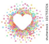 heart   paper color abstract... | Shutterstock .eps vector #1017552526