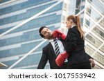 two competitive businessperson... | Shutterstock . vector #1017553942