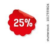 sticker red sale flat sale... | Shutterstock .eps vector #1017555826