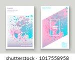 neon explosion paint splatter... | Shutterstock .eps vector #1017558958