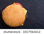 american hamburger . unhealthy... | Shutterstock . vector #1017562612