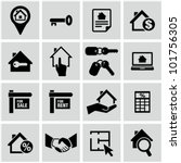 real estate icons. | Shutterstock .eps vector #101756305