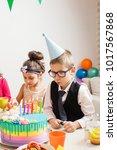 desire on birthday   Shutterstock . vector #1017567868