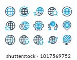 globe related line icons.... | Shutterstock .eps vector #1017569752