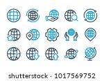 globe related line icons.... | Shutterstock .eps vector #1017569752