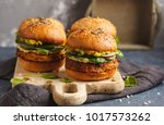healthy baked sweet potato... | Shutterstock . vector #1017573262