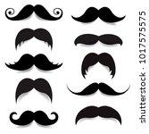 mustache big set with gradient... | Shutterstock .eps vector #1017575575