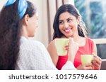 two female best friends... | Shutterstock . vector #1017579646