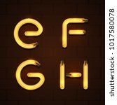 vector of abstract font and... | Shutterstock .eps vector #1017580078