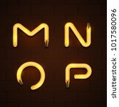 vector of abstract font and... | Shutterstock .eps vector #1017580096