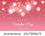 bokeh vector background... | Shutterstock .eps vector #1017583675