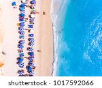 Top Down View Of A Beach With...