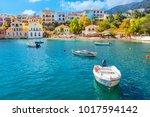 cephalonia island greece assos... | Shutterstock . vector #1017594142