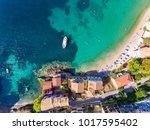 kefalonia assos village aerial... | Shutterstock . vector #1017595402