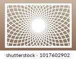 template for cutting. mandala ... | Shutterstock .eps vector #1017602902
