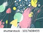 brush  marker  pencil stroke... | Shutterstock .eps vector #1017608455