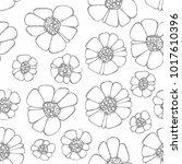 vector seamless pattern with... | Shutterstock .eps vector #1017610396