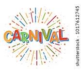 popular event brazil carnival... | Shutterstock .eps vector #1017612745