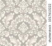 vector damask seamless pattern... | Shutterstock .eps vector #1017613222