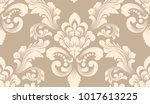 vector damask seamless pattern... | Shutterstock .eps vector #1017613225