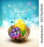 vector illustration. easter... | Shutterstock .eps vector #1017614242