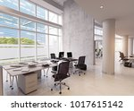 modern office building interior.... | Shutterstock . vector #1017615142